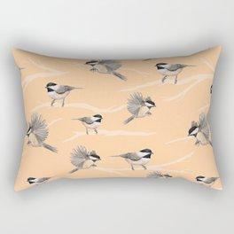 Chickadees Rectangular Pillow