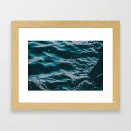 waves at the lake Framed Art Print