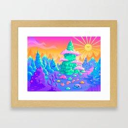 Blob Valley Framed Art Print