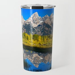 Grand Teton - Reflection at Schwabacher's Landing Travel Mug