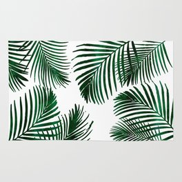 Tropical Palm Leaf Rug