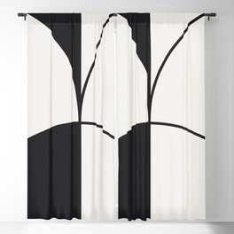 Diamond Series Round Solid Lines Charcoal on White Blackout Curtain