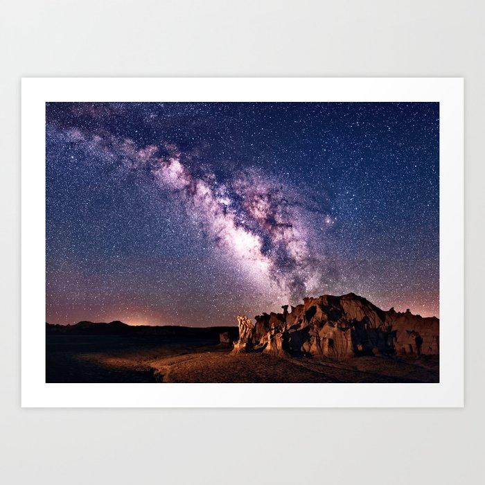 Bisti Badlands Night Sky Art Print