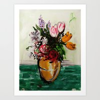 Dying Flowers Art Print
