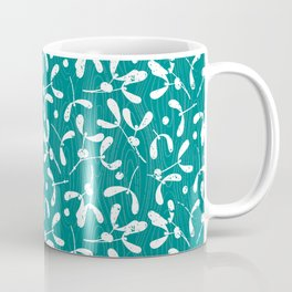 Rustic Mistletoe - Teal Coffee Mug