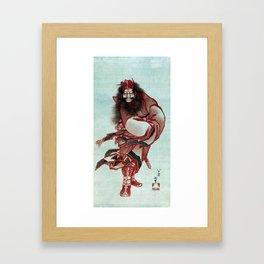 Katsushika Hokusai Red Shōki, the Demon Queller Framed Art Print