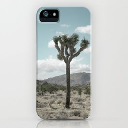 Joshua Tree On A Calm Cool Day iPhone Case
