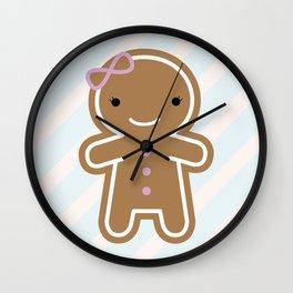Cookie Cute Gingerbread Girl Wall Clock