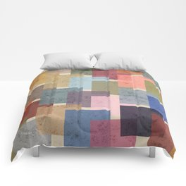 Vintage Colorful Squares Comforters