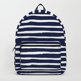 Navy Blue Stripes on White II Backpack