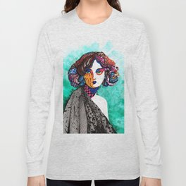 """""""When the muse come to visit"""" Long Sleeve T-shirt"""