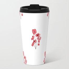 Poppy Wallpaper Travel Mug