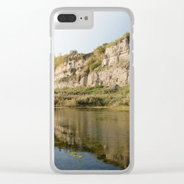 beautful reflection in Torrefumo lake in the bay of Naples Clear iPhone Case