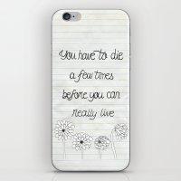 bukowski iPhone & iPod Skins featuring Bukowski by Larissa
