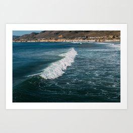 Surf's Up at Pismo Beach Art Print