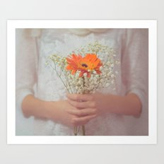 Delicate touch Art Print