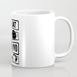 Eat Sleep Techno Repeat - Party Electronic Music Coffee Mug