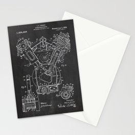 Patent combustion engine Stationery Cards