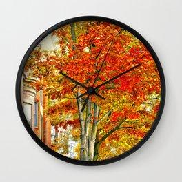 South End. Fall in Boston, MA.  Wall Clock