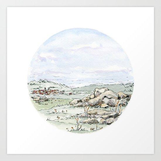 Crop Circle 02 Art Print