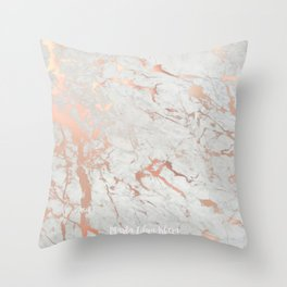 Rose gold marble Throw Pillow