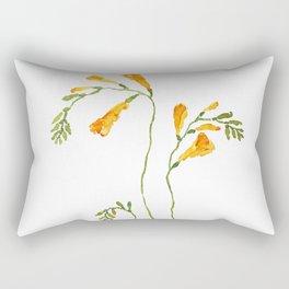 orange freesia watercolor Rectangular Pillow