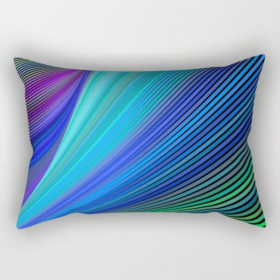 Surfing in a magic wave Rectangular Pillow