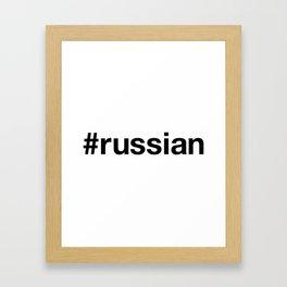 RUSSIAN Framed Art Print