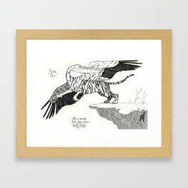 The Harimau Bird Framed Art Print