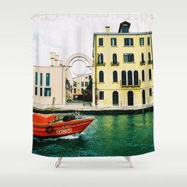 Venice, Italy. Analog. Film. Photography. Shower Curtain