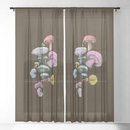 Shrooms Sheer Curtain
