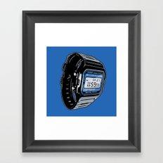 Casio F-105 Digital Watch Framed Art Print