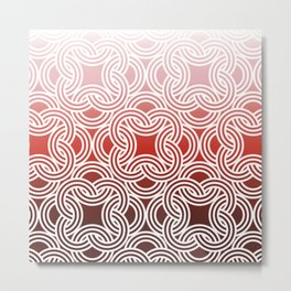 Ombre Abstract Circle Pattern Metal Print