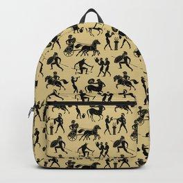 Greek Figures // Tan Backpack