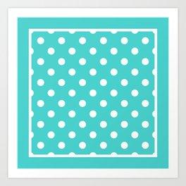 Turquoise Polka Dots Palm Beach Preppy Art Print
