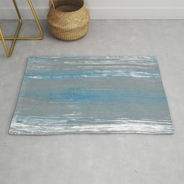 Light blue and gray Rug