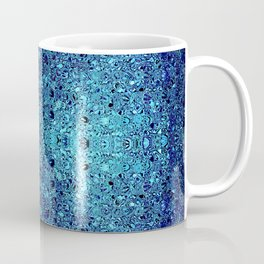 Deep blue glass mosaic Coffee Mug