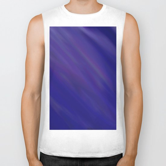 Finding Peace - Abstract, smooth, silky blue painting, peaceful, relaxing, modern art Biker Tank