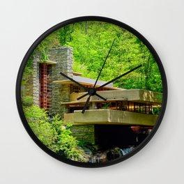 Frank Lloyd Wright | architect | Fallingwater Wall Clock