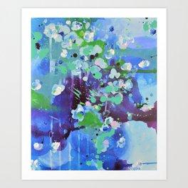 Blue affair Art Print
