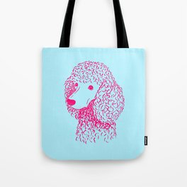 Poodle (Light Blue and Hot Pink) Tote Bag