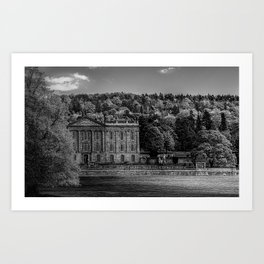 Chatsworth country house Art Print