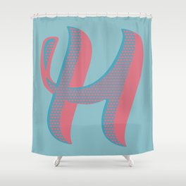 Bold 'H' Dropcap Shower Curtain