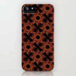 black crosses among brown flowers iPhone Case