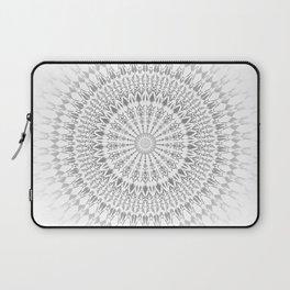 Light Grey White Mandala Laptop Sleeve