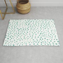 Dalmatian Green Minimal Spots - Polka Dots Rug
