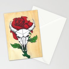 Skull and Rose Stationery Cards