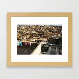 Lost in the Medina Framed Art Print