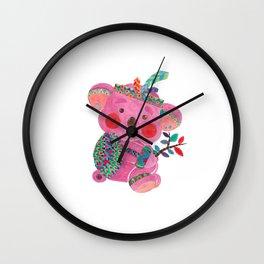 The Pink Koala Wall Clock