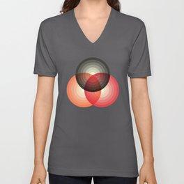 Three colour circles, inspired by Lacouture's Répertoire chromatique Unisex V-Neck